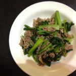 小松菜と肉_